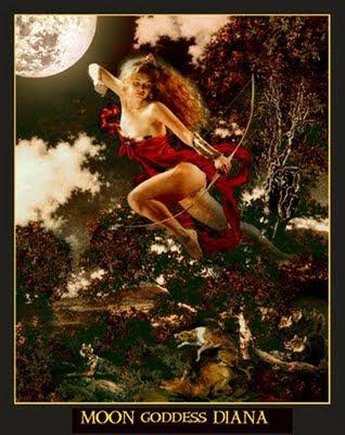 Moon goddess Diana, by Howard David Johnson