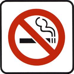 A fumagem deixada deixou de ir a um banheiro