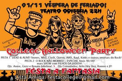 Cartaz do College Halloween Party