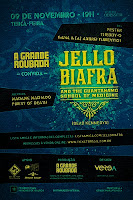 Cartaz do show de Jello Biafra
