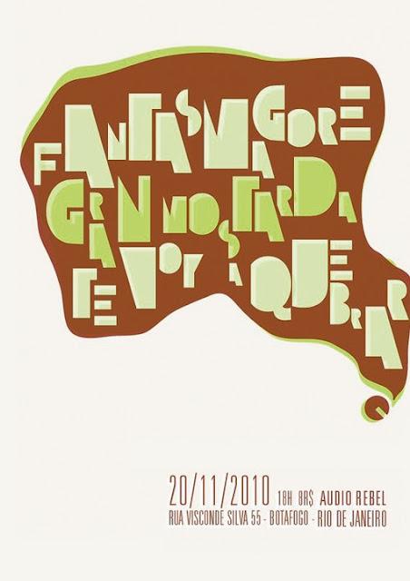 Cartaz do show com as bandas Fantasmagore, Granmostarda e Te Voy a Quebrar
