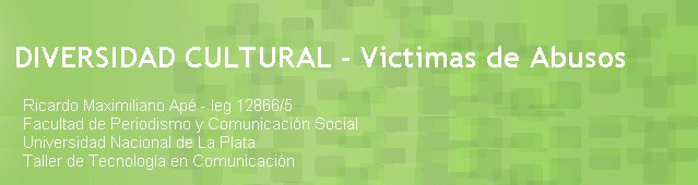DIVERSIDAD CULTURAL - Victimas de Abusos