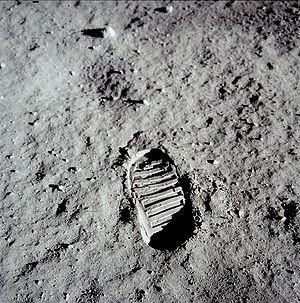 huella en la Luna