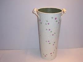 Tin Flower Vase