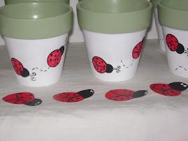Lady Bug Pots