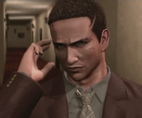 Deadly Premonition Francis York Morgan talking to Zach
