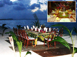 dinning Motu Tetaraire offers total seclusion in a sophisticated setting.