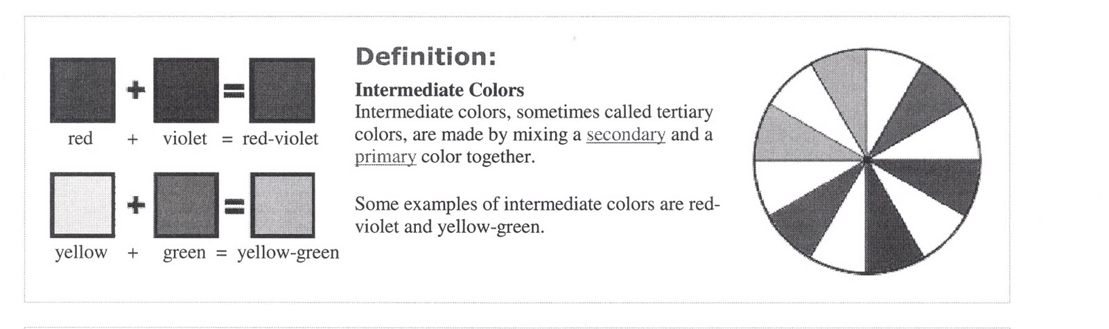 You Get Intermediate Or Tertiary Colours When Mix A Secondary Colour With Primary One