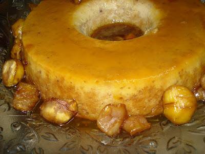 Pudim de castanhas e leite condensado Vo+mindoca+castanhas