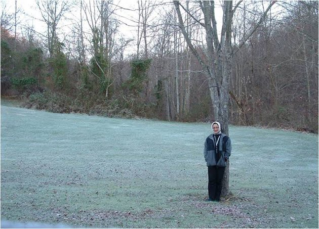 FLowing Like Water (Marissa Haque Fawzi) Amids a Mild Snow in Athens, Ohio, USA, 2004