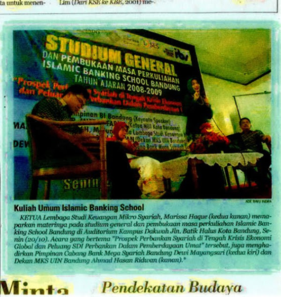 Islamic Banking School Bandung bersama Marissa Haque PPP