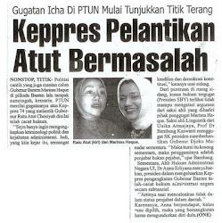 Keppres Ratu Atut Chosiyah dalam Pilkada Banten 2006 BErmasalah Besar: Marissa Haque Fawzi