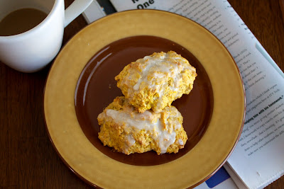pumpkin+scones Pumpkin Scones with Cinnamon Glaze