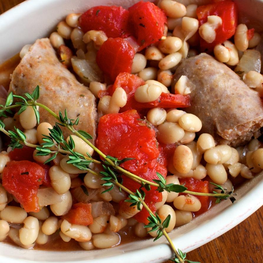 cassoulet+style+italian+sausages Cassoulet Style Casserole
