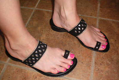 sexy black toe sandals by Donald J Pliner