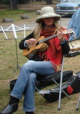 Humble baritonics october 2010 karen b with custom baritone ukulele burning uke 8 fandeluxe Image collections