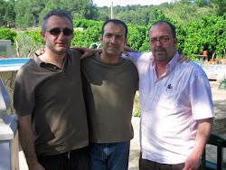 Julio Obeso, Antonio Méndez y Viktor Gómez