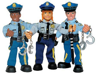 Police do not look as friendly as these dolls