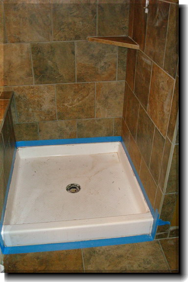 Attrayant ... The Existing Shower Pan At A Fraction Of The Cost To Tear Out And  Tiling. Visit Our Website For More Information At  Www.versatilecoatingsllc.com