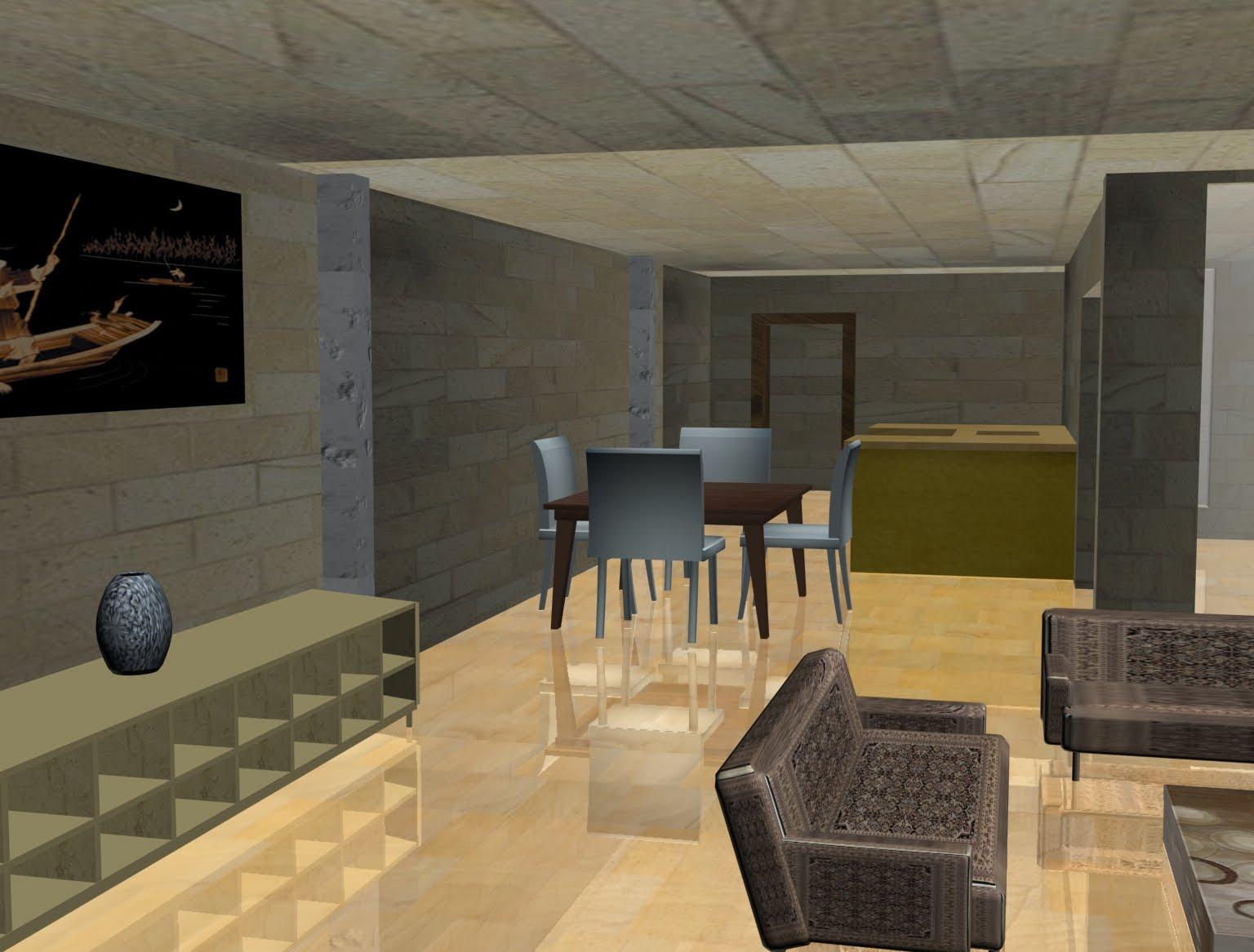 3d magic interior design in max for Max interior