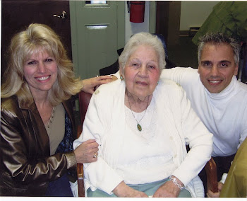 "My sister Pam, my Mom, ""St. Frances of Turri,"" and me..."
