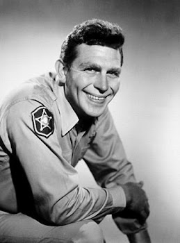 "Griffith as ""Andy Taylor"" of ""Mayberry"""