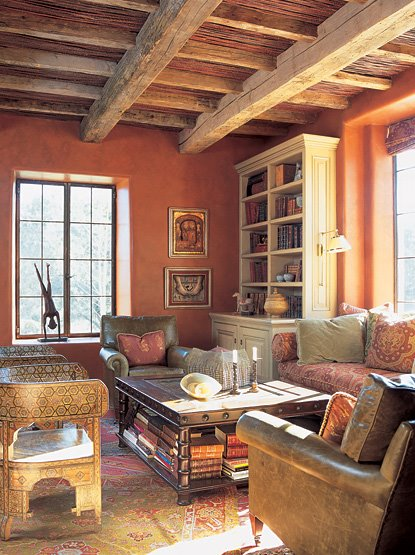 Decor to adore day 11 spanish colonial interiors for Spanish colonial exterior paint colors