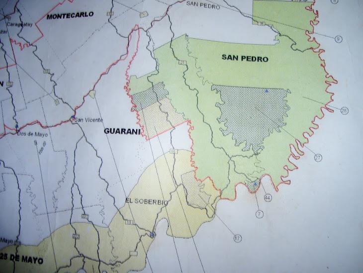 mapa de reserva biosfera Yaboty y provincial Mocona
