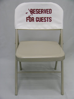 """Reserved"" Chair Back Covers"