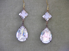 SWAROVSKI CRYSTAL DIAMOND AND  PEAR DROPS
