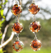 SPARKLING COPPER CRYSTAL OCTAGON DROPS