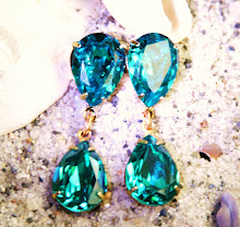 LUSCIOUS BLUE ZIRCON CRYSTAL POSTS