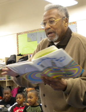 A BENEFIT OF RETIREMENT -- READING TO CHILDREN AT LOCAL SCHOOLS AS A VOLUNTEER.