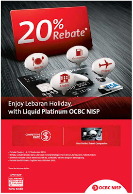 Kartu Kredit OCBC NISP. Program Rebate Dari Liquid Platinum OCBC NISP