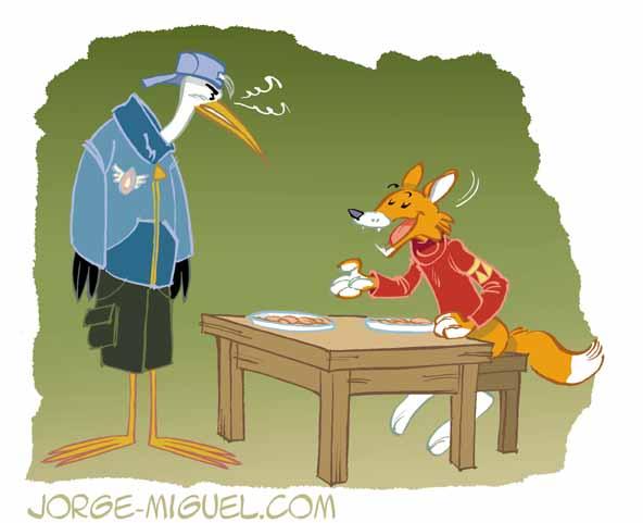 Un dernier coup de gomme le renard et la cigogne 01 - Le renard et la cigogne dessin ...