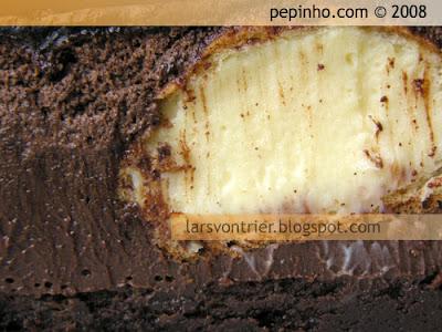 Tarta de mousse de chocolate y petit-choux