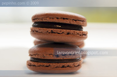 Macarons de chocolate con leche