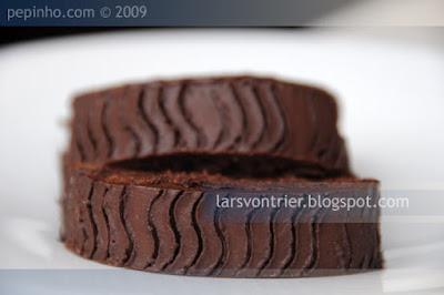 ronco de chocolate, frambuesa y vinagre balsámico