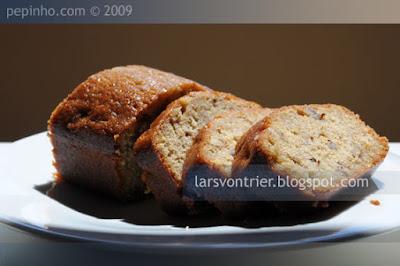 Cake de canela y pistacho (o casi) con nueces