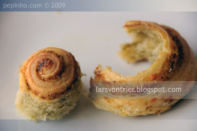 Rollitos de pesto