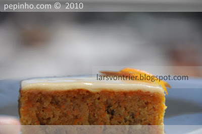 Pastel de zanahoria y naranja