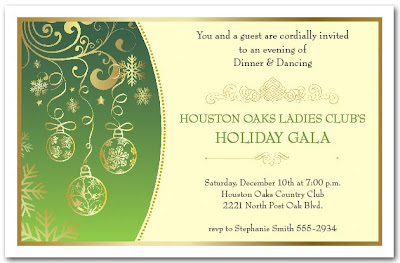 Use For An Office Party Invitation, Corporate Holiday Invitation And More,  Just Change The Wording.  Gala Invitation Wording