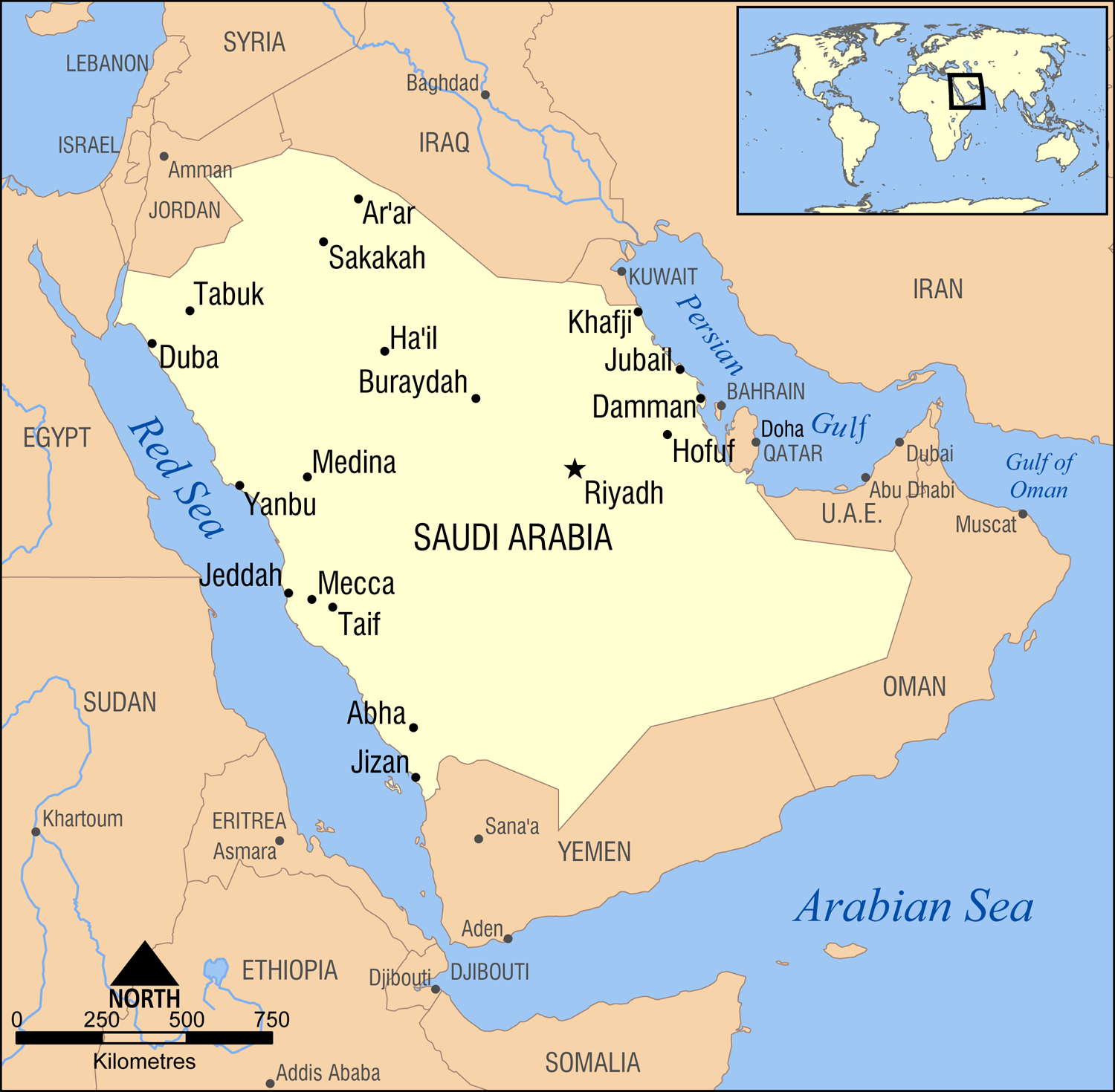 Arabia World Map - Baghdad map world