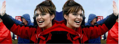 Photo of Sarah Palin flipped so she is facing in two directions
