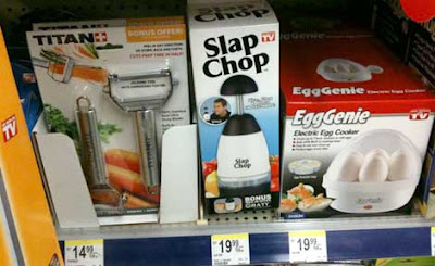 Slap Chop, Egg Genie, and Titan vegetable peeler