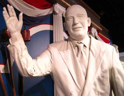 White plaster statue of Joe McCarthy