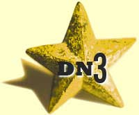 A gold star with DN3 emblazoned on it