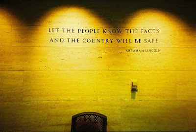 Quote from Lincoln engraved in stone wall