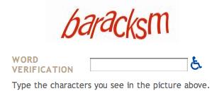 Letter code captcha reading BarackSM
