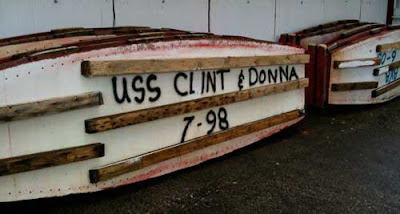 One boat's name is USS CLINT & DONNA